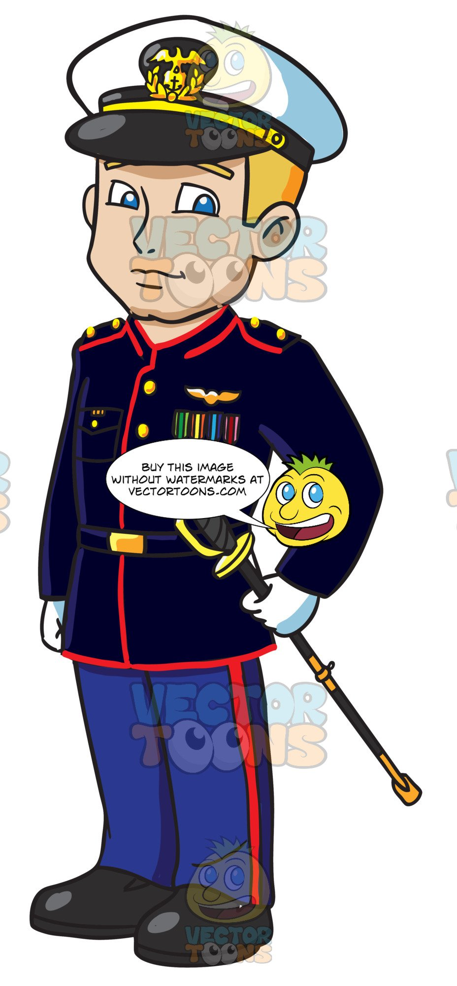 Usmc animated clipart image royalty free download A Us Marines Officer Dressed For A Formal Occasion image royalty free download