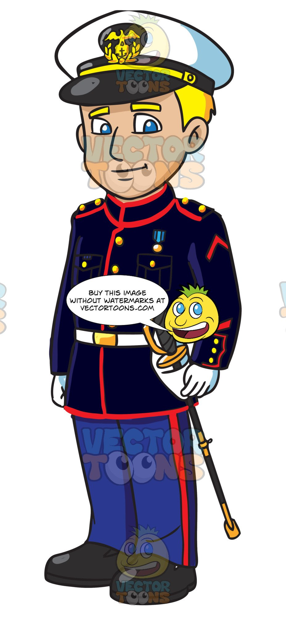 Usmc animated clipart clipart freeuse download An Enlisted Us Marine Wearing A Blue Dress Uniform clipart freeuse download