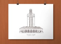 Ut tower clipart clip art royalty free 21 Best University of Texas Longhorns Art images in 2016 ... clip art royalty free