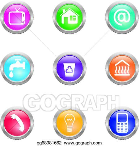 Utilities clipart svg library download EPS Illustration - Utility bills icons. Vector Clipart ... svg library download