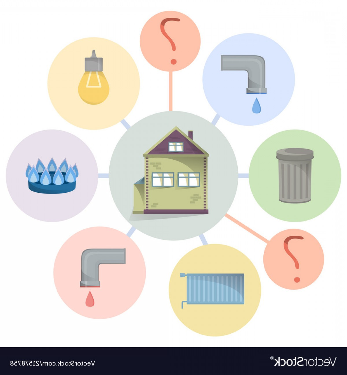 Utilities clipart graphic freeuse Paying Utilities Bills Hidden Charges Unclear Vector | SOIDERGI graphic freeuse