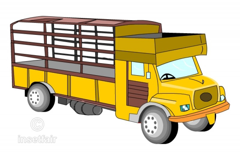 Utility truck clipart vector transparent download Free clipart auto lorry utility truck vector transparent download