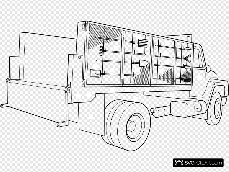 Utility truck clipart clip free stock Utility Truck Clip art, Icon and SVG - SVG Clipart clip free stock