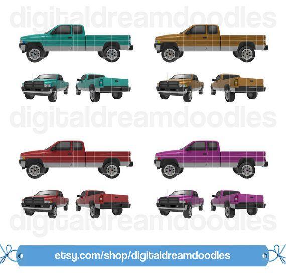 Utility truck clipart image Ram Truck Clipart, Dodge Truck Clip Art, Workload Trucks ... image