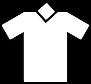 V neck t shirts black and white clipart svg library Plain White V Neck T Shirt - Clip Art Library svg library