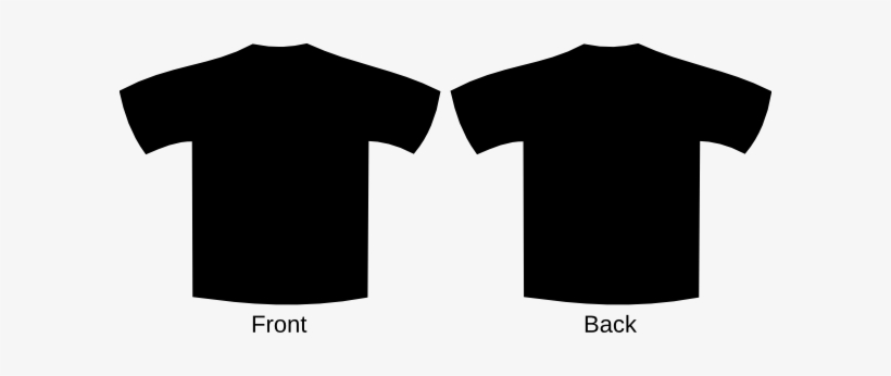 V neck t shirts black and white clipart png royalty free download Clip Art At Clker - Black T Shirt Front And Back V Neck ... png royalty free download