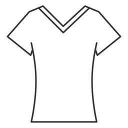 V neck t shirts black and white clipart clip free library Crew neck t shirt stroke icon - Transparent PNG & SVG vector clip free library