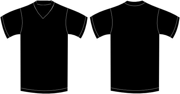 V neck t shirts black and white clipart svg freeuse download V Neck T Shirt Template | Wesleykimlerstudio svg freeuse download