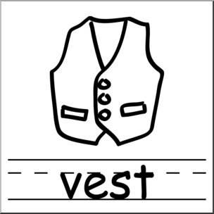 V words clipart clip art free library Clip Art: Basic Words: Vest B&W Labeled I abcteach.com ... clip art free library