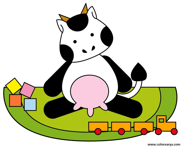 Vaca dibujo clipart picture download Dibujos para colorear y pintar para los niños picture download