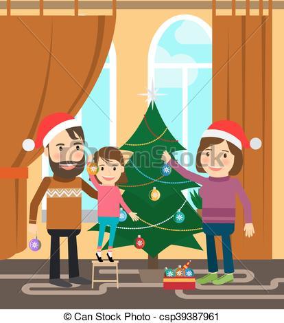 Vacaciones de invierno clipart graphic celebra, invierno, vacaciones familia graphic