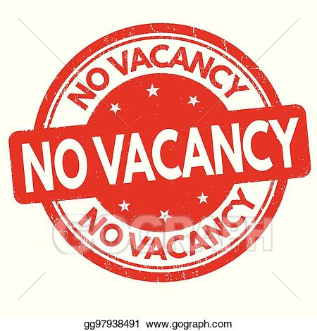 Vacancy sign clipart vector royalty free download Vector Art - No vacancy sign or stamp. EPS clipart ... vector royalty free download