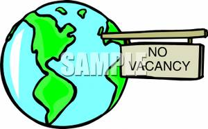 Vacancy sign clipart clip A No Vacancy Sign Sticking Out Of The Earth - Royalty Free ... clip
