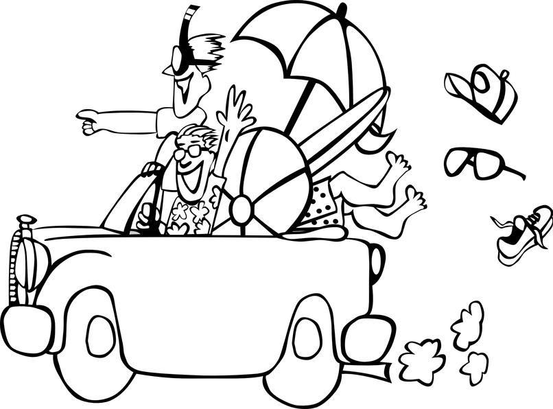 Vacation black and white clipart picture black and white stock Vacation clipart black and white 1 » Clipart Station picture black and white stock