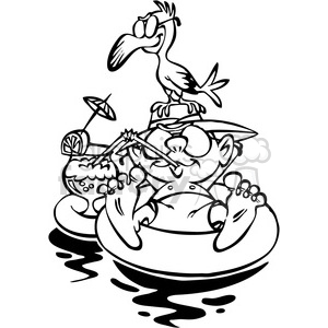 Vacation black and white clipart graphic black and white cartoon guy floating on rubber tube vacation black and white clipart.  Royalty-free clipart # 387844 graphic black and white