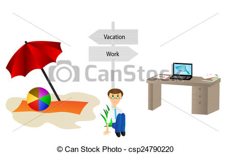 Vacation from work clipart vector download Clip Art of Vacation and work pointer - Background with vacation ... vector download