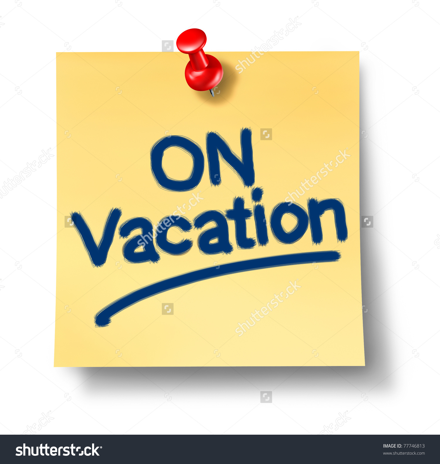 Vacation from work clipart graphic free download On Vacation Office Note Isolated Representing Stock Illustration ... graphic free download