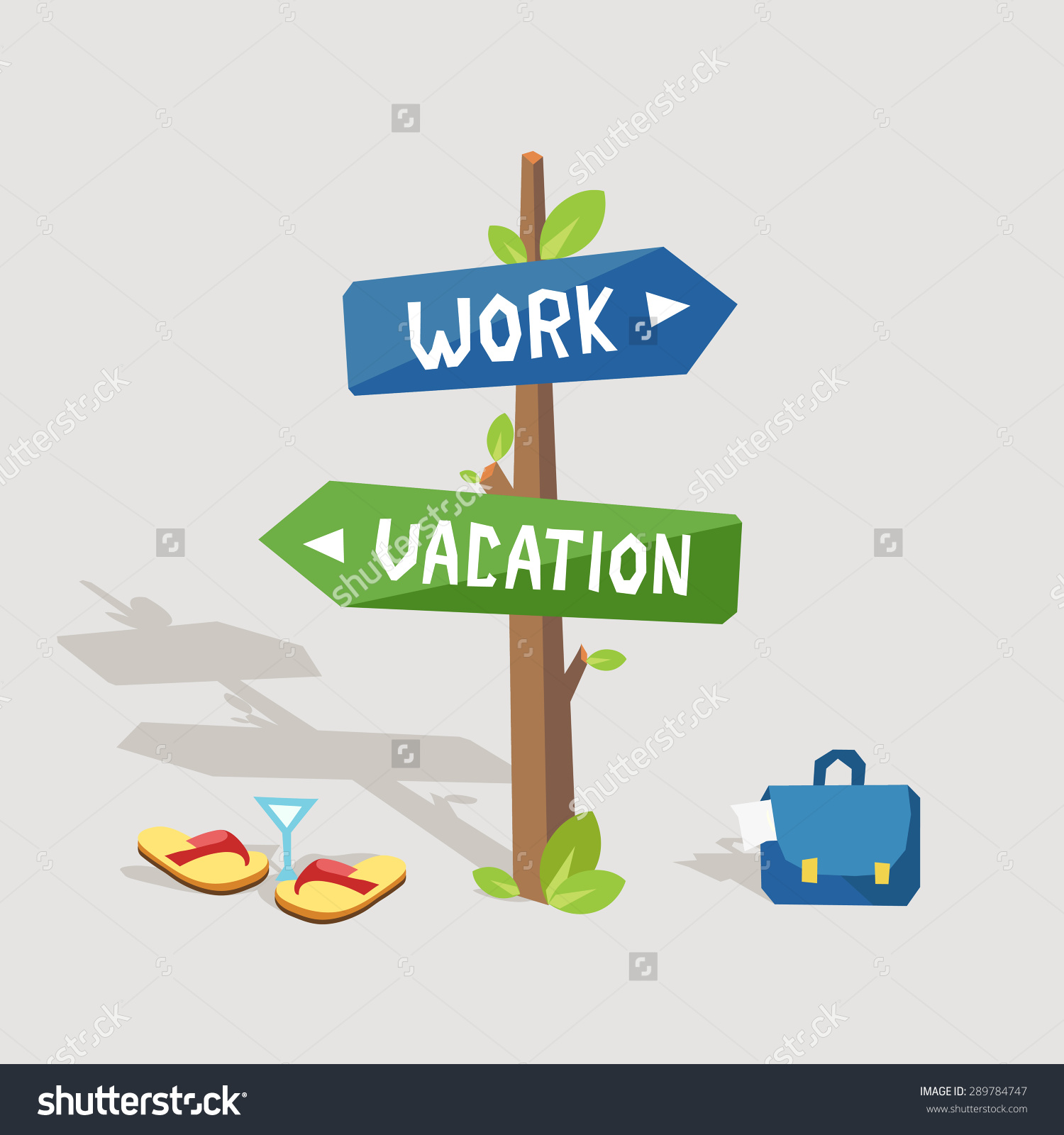Vacation from work clipart clipart transparent stock Work Vacation Road Sign Words Work Stock Vector 289784747 ... clipart transparent stock