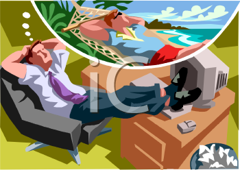 Vacation from work clipart black and white stock Vacation from work clipart - ClipartFest black and white stock