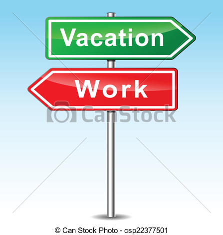 Vacation from work clipart vector transparent stock Vector Clipart of Vector vacation and work concept - Vector ... vector transparent stock