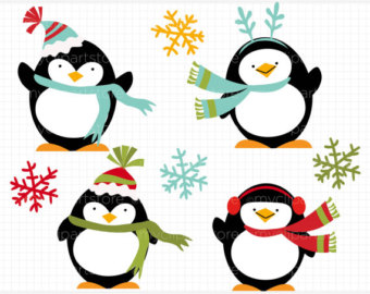 Penguin holiday clipart picture black and white download Free Penguins Clipart, Download Free Clip Art, Free Clip Art ... picture black and white download