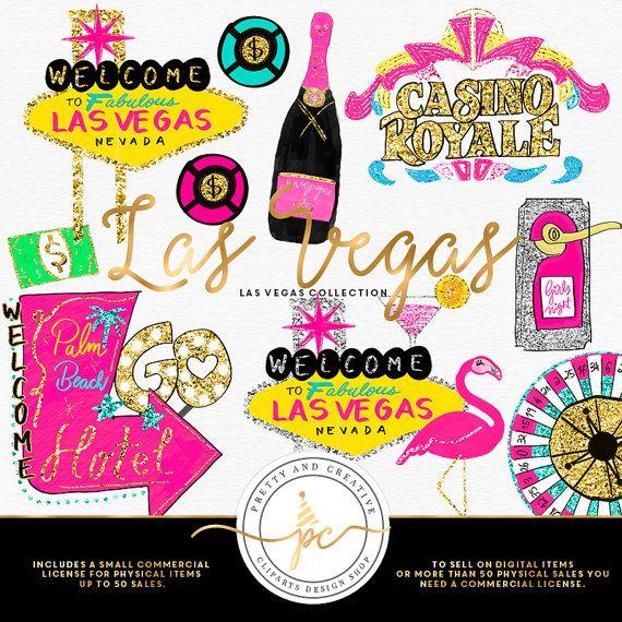 Vagas clipart image black and white stock Las Vegas Clipart Glitter Set Clip Art Vegas by ... image black and white stock