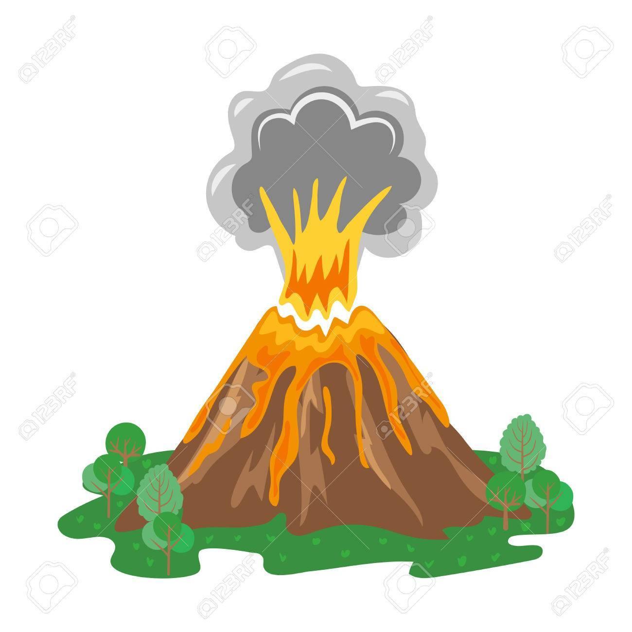 Valcaino clipart clip art royalty free download Erupting volcano clipart 6 » Clipart Portal clip art royalty free download