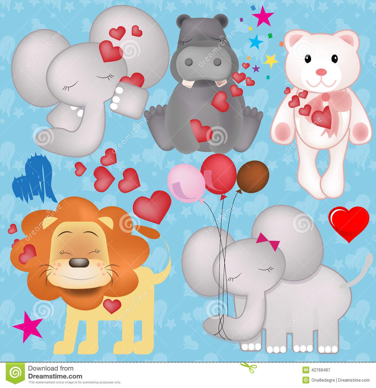 Valentine animal gram clipart jpg transparent stock Cute Valentine Animals Photo Album - Best easter gift ever jpg transparent stock