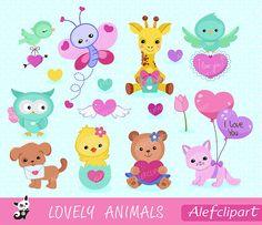 Valentine animal gram clipart clipart royalty free download Valentine clipart, valentine animal clipart, animal valentine ... clipart royalty free download