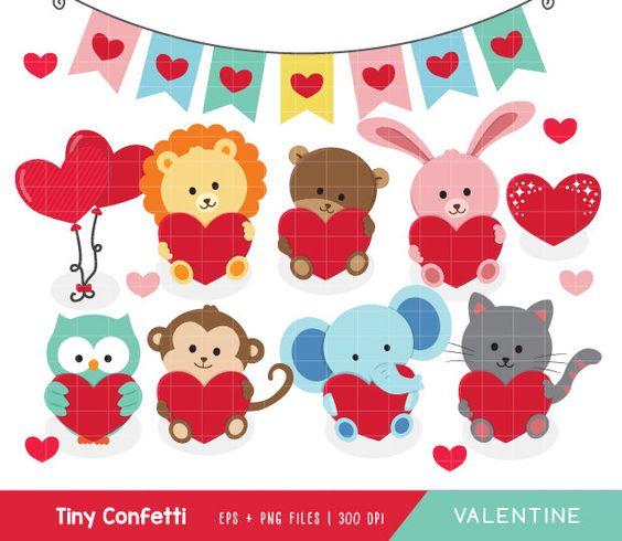 Valentine animal gram clipart clip freeuse stock Valentine clipart, valentine animal clipart, animal valentine ... clip freeuse stock
