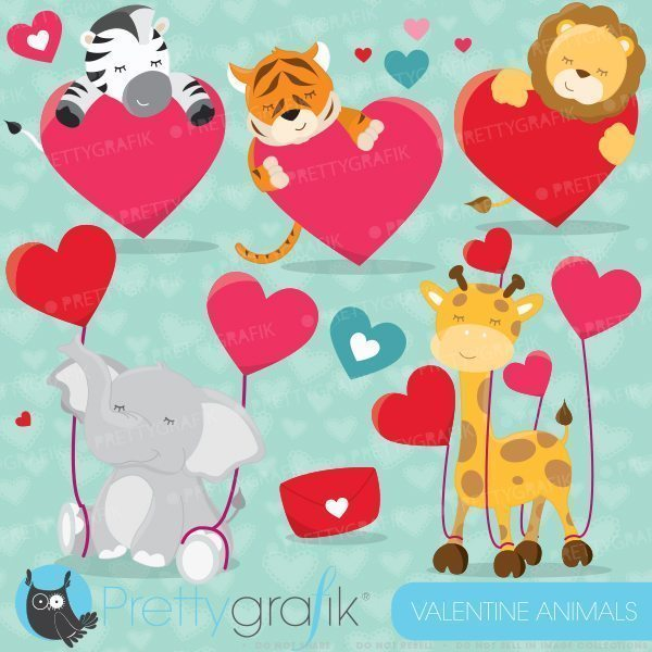Valentine animals clipart royalty free library Valentine animals clipart royalty free library