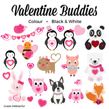 Valentine clipart friends image royalty free Valentine Animals Clipart, Valentine Friends, Valentine\'s Day Clipart image royalty free