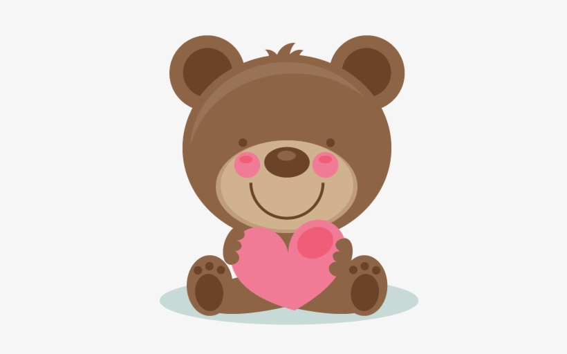 Valentine bear clipart svg freeuse download Cute Valentine Bear Clipart - Miss Kate Cuttables ... svg freeuse download