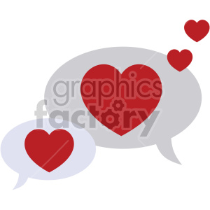 Valentine bubbles clipart freeuse download valentines chat bubbles vector icon no background . Royalty-free icon #  407489 freeuse download