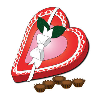 Valentine candy clipart graphic freeuse Clip Art Picture of a Valentine Heart with an Arrow Through It graphic freeuse