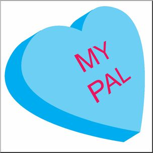 Valentine candy clipart png transparent Clip Art - Candy Conversation Heart - Blue with My Pal text ... png transparent