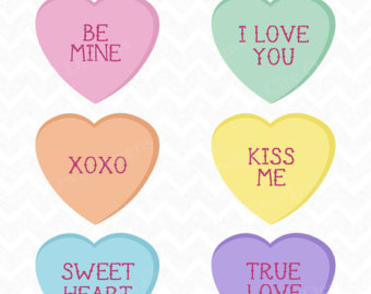 Valentine candy hearts clip art svg royalty free download Valentines candy heart day clipart - ClipartFest svg royalty free download