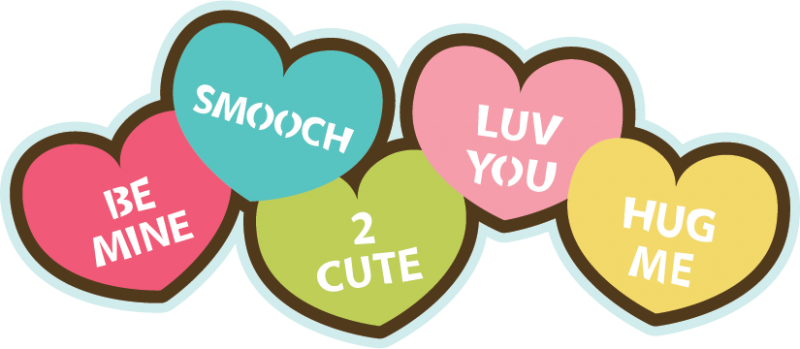 Valentine candy hearts clip art image transparent Valentine Candy Hearts Clip Art - Valentine's Day 2017 image transparent