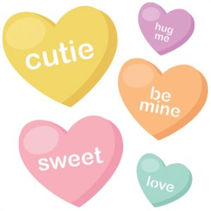 Valentine candy hearts clip art image 17 Best images about Clip Art, etc.-Valentines on Pinterest ... image