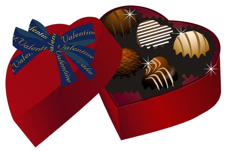 Valentine chocolates clipart png free library Valentine Red Heart Chocolate Box PNG Clipart | Gallery ... png free library