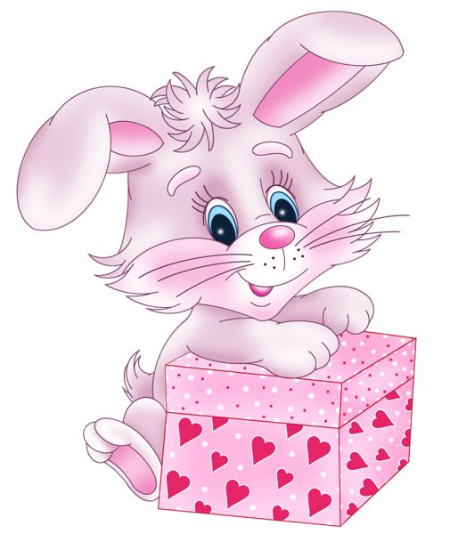 Valentine clipart for facebook clipart transparent library Cute Bunny with Valentine Gift Box PNG Clipart Picture | Imágenes ... clipart transparent library
