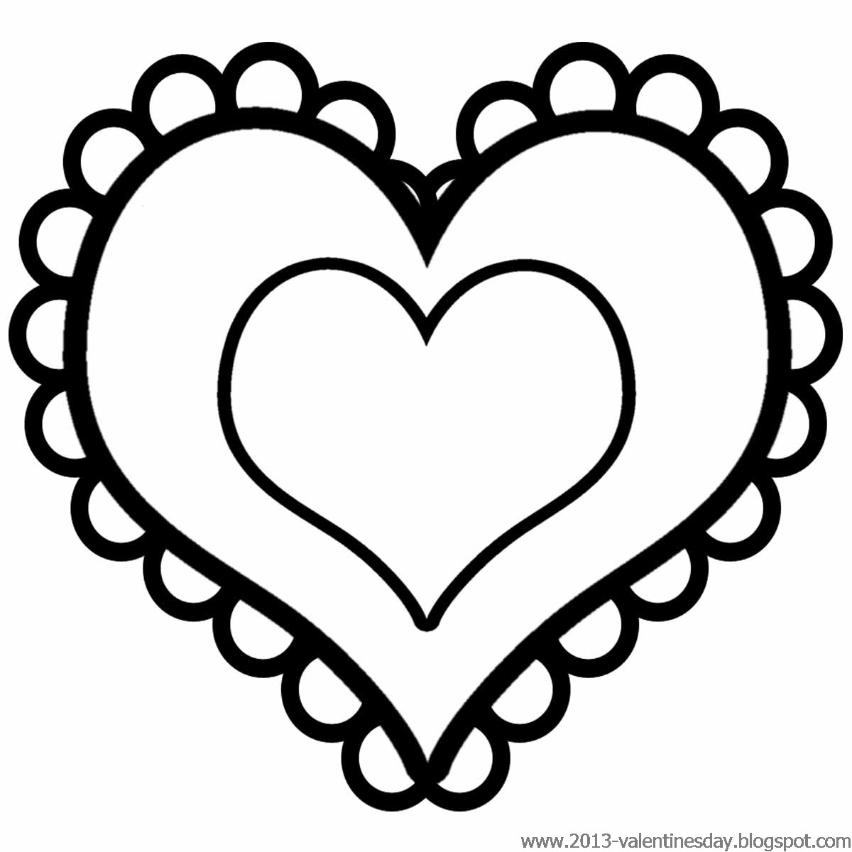 Heart clipart for kids black and white clipart library 51+ Black And White Valentine Clip Art | ClipartLook clipart library