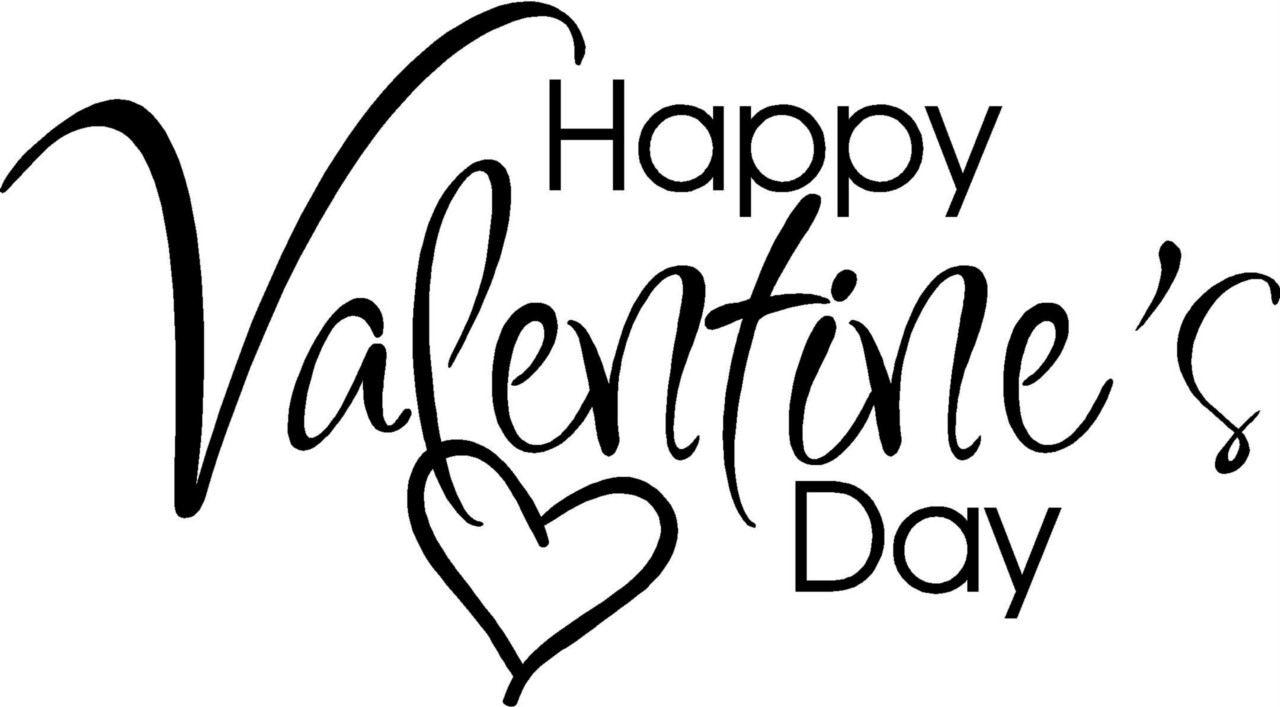 Valentine s day banner clipart black and white png free Happy Valentines Day Clipart Free | Free download best Happy ... png free