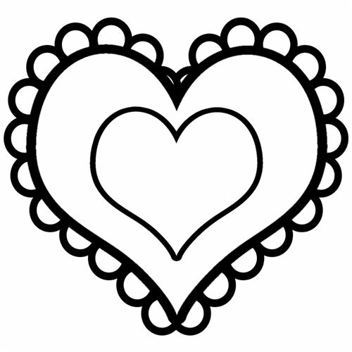 Valentine clipart free black white jpg free stock Free Black And White Valentines, Download Free Clip Art ... jpg free stock
