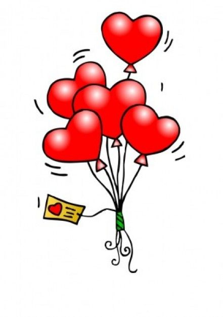 Valentine clipart free downloads image free stock Heart Balloons Vector clip art - Free vector for free ... image free stock