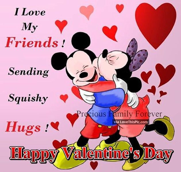 Valentine clipart friends vector library Disney Valentine\'s Day Quote For Friends | #369044 ... vector library