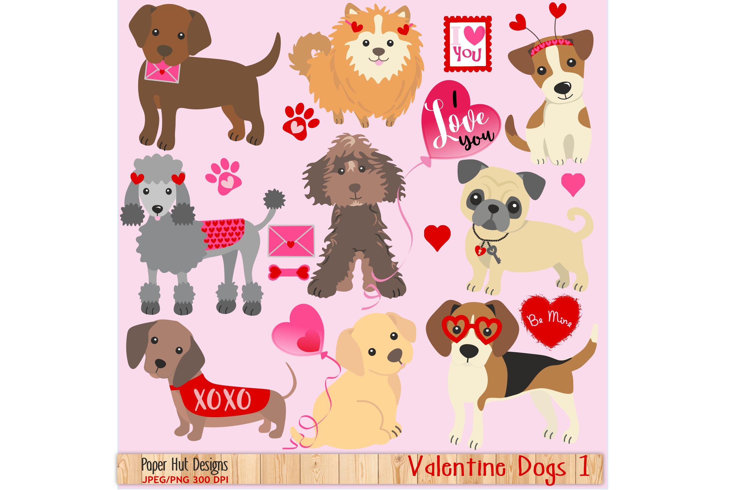 Valentine clipart puppy clip free Valentine Dog Clipart clip free