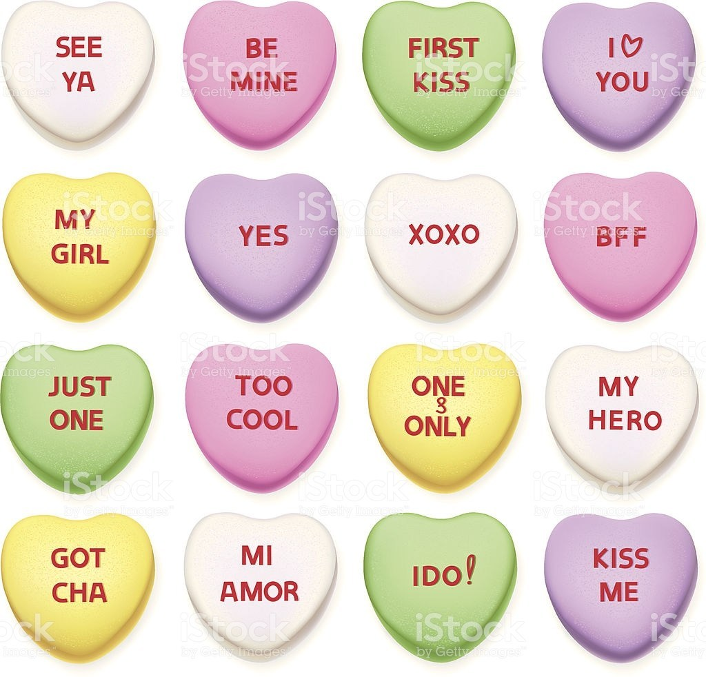 Valentine conversation hearts clipart graphic free download 20+ Heart Clip Art Candy Ideas and Designs graphic free download
