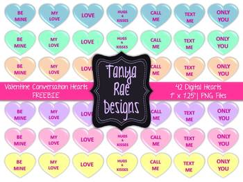 Valentine conversation hearts clipart png black and white stock Valentine Conversation Hearts Clip Art {FREEBIE} png black and white stock
