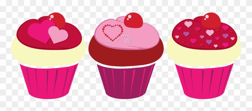 Valentine day bakery clipart png jpg black and white Valentine Cupcake Clipart - Valentine\'s Day Clip Art Cupcake ... jpg black and white